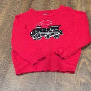 OshKosh Boys Sweater With Train Appliqué Holiday